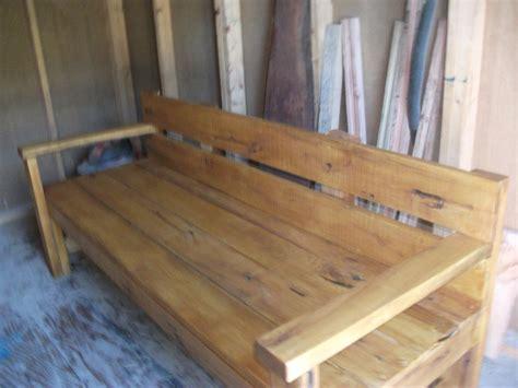 roughcut woodworking a 6ft cut black locust park bech by eric122