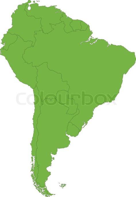 grune karte gr 252 ne s 252 damerika karte vektorgrafik colourbox