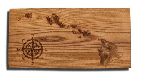 woodworking hawaii hawaiian islands topographical map carved from wood