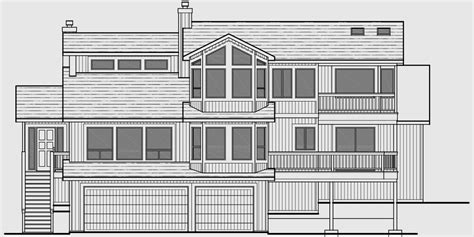 sloping lot house plans daylight basement house plans luxury
