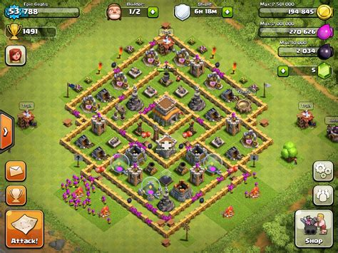 images for strongest base for clash of clans image a recent base of mine jpg clash of clans wiki