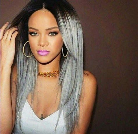 rihanna grey hair color 10 best images about rihanna s fashion on