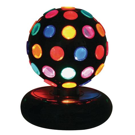 colorful table ls lumisource 9 in black indoor table l with rotating
