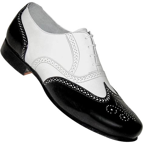 aris allen s 1930s black and white spat style wingtip