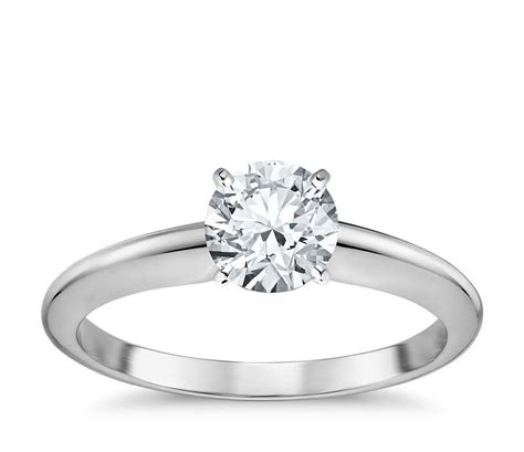 classic  prong engagement ring   white gold