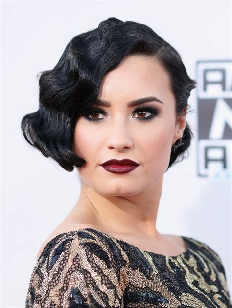 Demi Lovato Hairstyles by Demi Lovato Finger Wave Hairstyles Lookbook