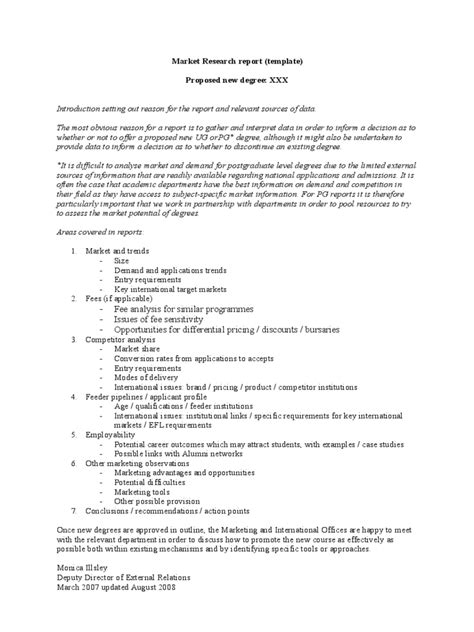 research paper template doc marketing research template 4 free templates in pdf
