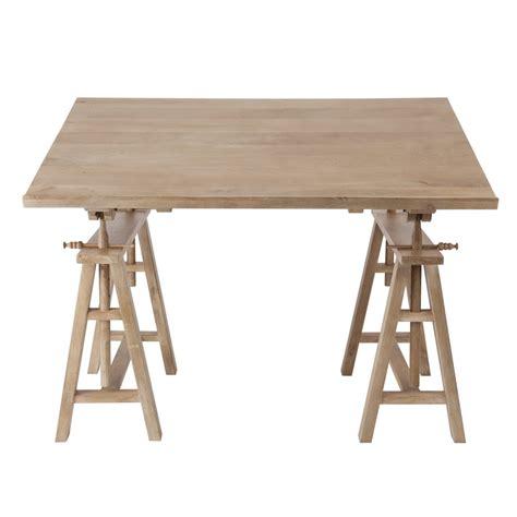 mango wood desk chair mango wood architect s desk w 130cm key west maisons du