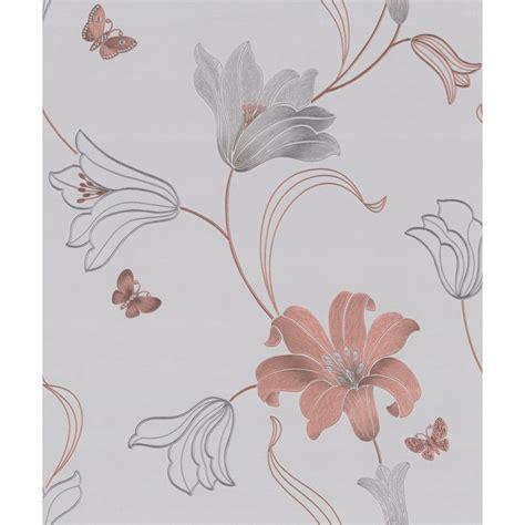 gold wallpaper b m amelia floral wallpaper rose gold wallpaper b m