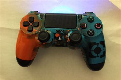 Nostalgia Home Decor portal themed ps4 controller i painted gaming