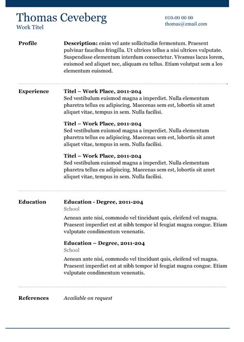 Curriculum Vitae Resume Sles Free free resume templates with no fees free