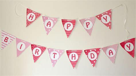 Bunting Flag Bendera Ulang Tahun Pesta Tema Pink perlengkapan sebagai kado ultah untuk ibu