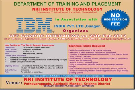 Ibm Mba College Hyderabad cus ibm for btech mca mba 2010 2011 batches