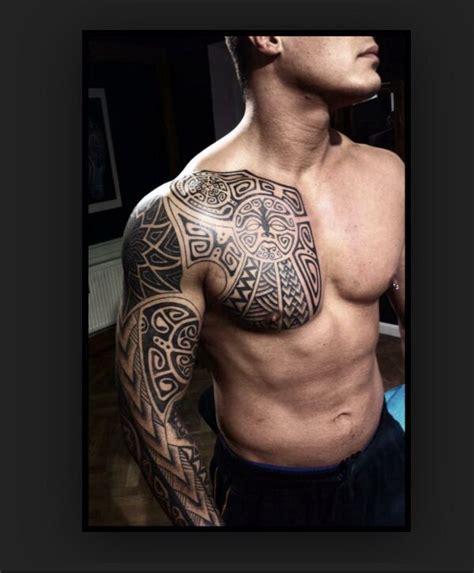 Tattoo Chest And Arm Sleeve | 20 best images about maori polynesian tattoo on pinterest