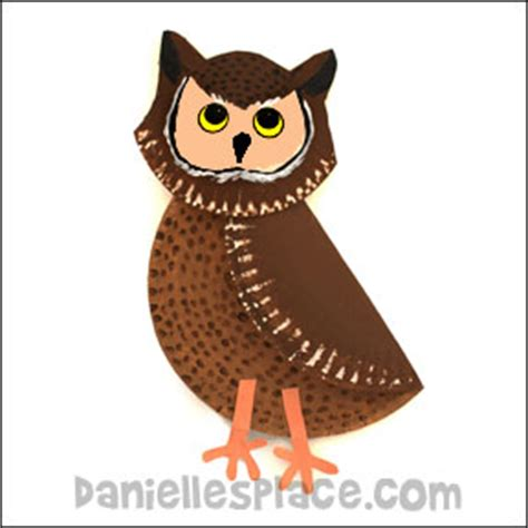 Paper Craft Owl - owl crafts and learning activities for