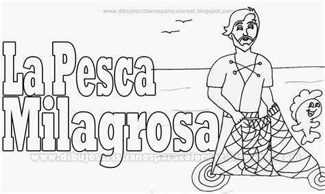 dibujos para colorear de la pesca milagrosa pesca milagrosa coloring pages