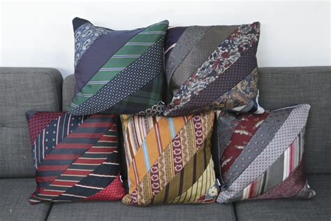 Make Cushions by Precious Memories How To Make A Cushion Using Ties
