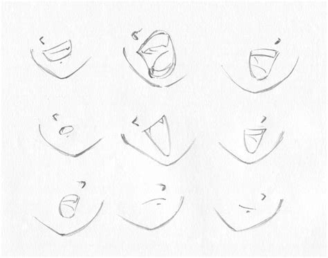 how to draw mouths how to draw http www oocities org draw anime