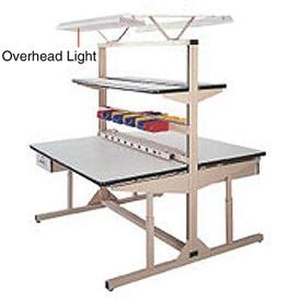 overhead bench work bench systems adjustable height overhead light