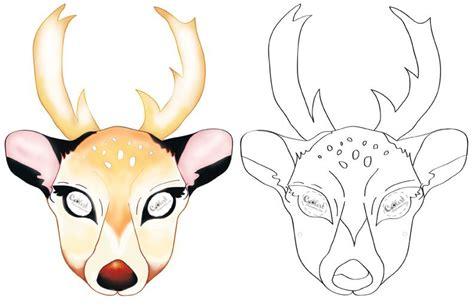 printable mask of deer printable deer mask coolest free printables