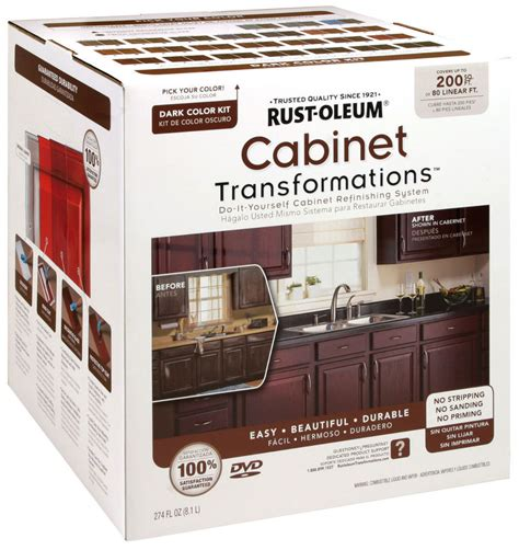 rustoleum kitchen cabinet transformation kit rust oleum 258242 cabinet transformations dark kit covers