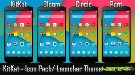 themes for android version 4 4 2 android kitkat 4 4 icon pack and theme nova apex go