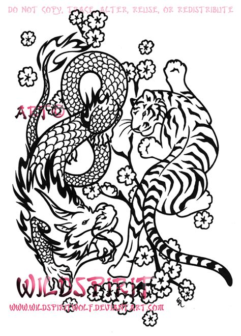tiger dragon tattoo designs and tiger yin yang design