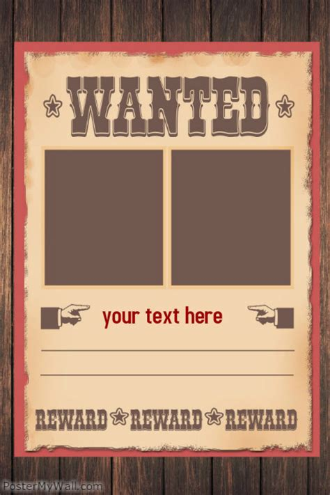 templates for wanted posters wanted poster flyer template postermywall