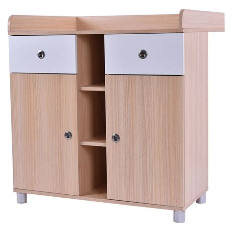 Wooden Baby Changing Table Nursery Diaper Station Dresser Wooden Baby Changing Table