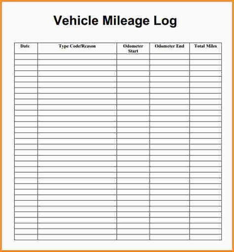 Mileage Spreadsheet For Taxes by 6 Mileage Log For Taxes Mac Resume Template
