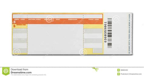 templates for tickets with stubs 7 best images of blank concert ticket template printable