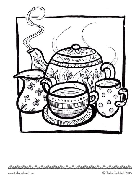 tea coloring pages 721 best images about colouring coffee tea cakes