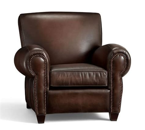 manhattan leather recliner with nailheads products recliners and barns on