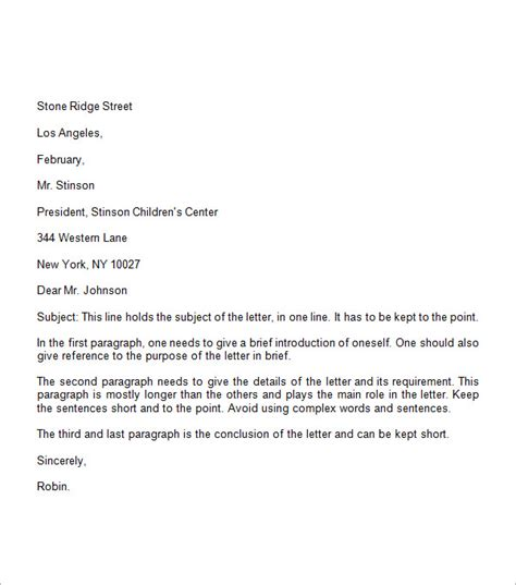 Business Letter Template With Spacing Spacing For Letter Format Best Template Collection