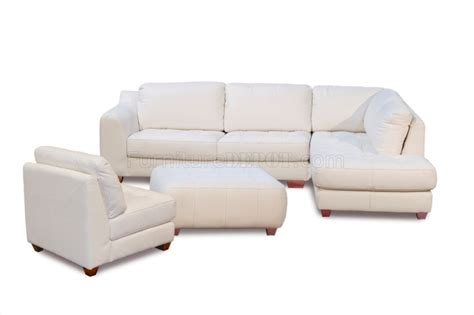 zen sofa white top grain leather modern zen sectional sofa w options