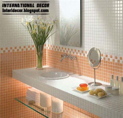 latest bathroom tile designs ideas latest orange wall tile designs ideas for modern bathroom