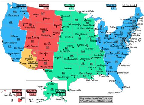 pacific time zone map usa pacific time zone now