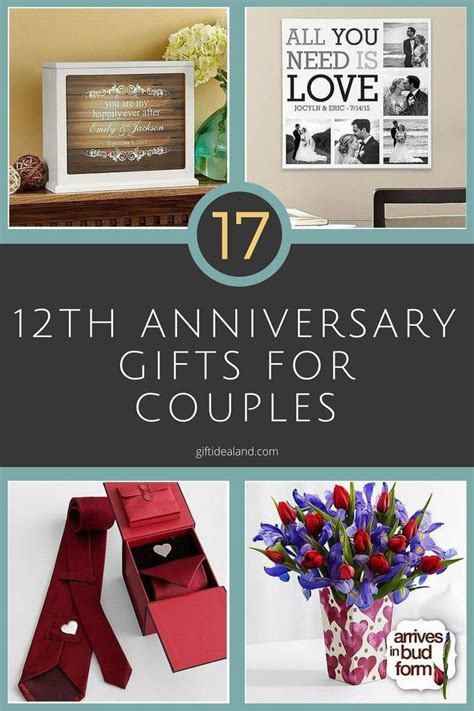 gift ideas for him 35 12th wedding anniversary gift ideas for him