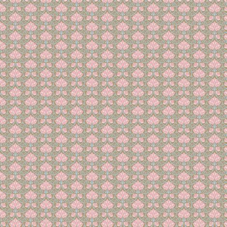 pattern brown pink lotus brown pink and blue small pattern fabric