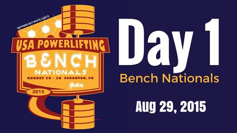 usapl bench nationals day 1 2015 usapl bench press nationals youtube