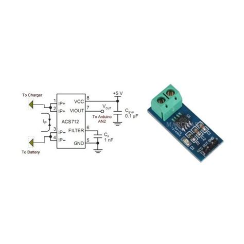Acs712 20 Effect Current Sensor Arus 20a acs712 20a current sensor module mikroelectron mikroelectron