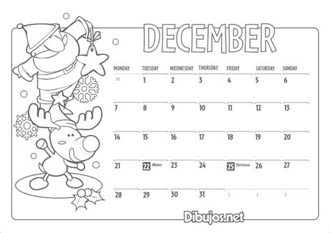 december calendar coloring pages free coloring pages of calendar kids 2015