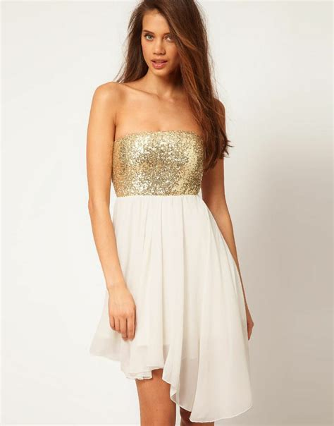 Asos Bring Us Another Style Gold Sequin Dress by
