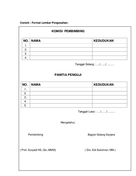 aturan format skripsi pedoman penulisan skripsi