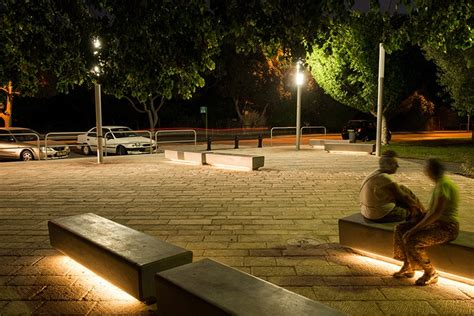 light bench naama agassi public furniture barak led light bench
