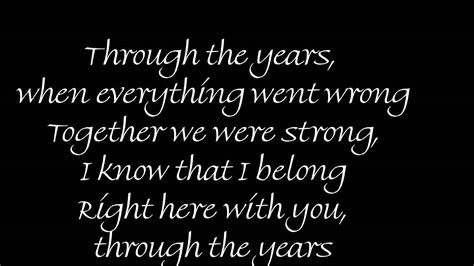 through the years through the years by kenny rogers w lyrics