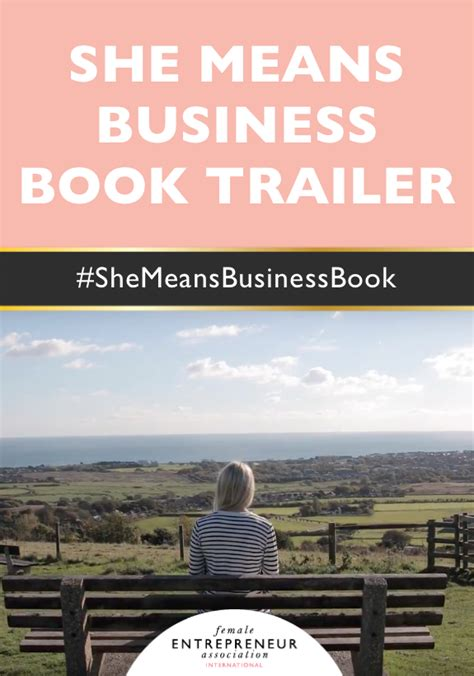 she means business turn she means business book trailer female entrepreneur association