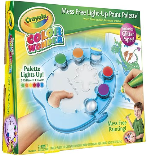 crayola color light up paint palette with glitter paper toys