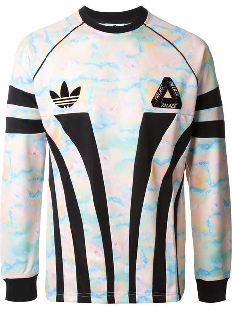 Denim Shirt X Sweater adidas originals x palace sweatshirt in black for lyst