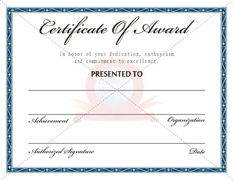 free download award certificate template samples thogati